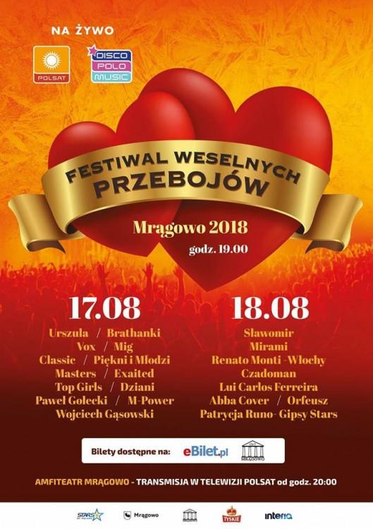 Festiwal Weselnych Przebojów Mrągowo 2018